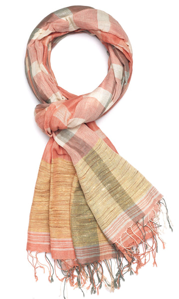Jute Plaid - Rose