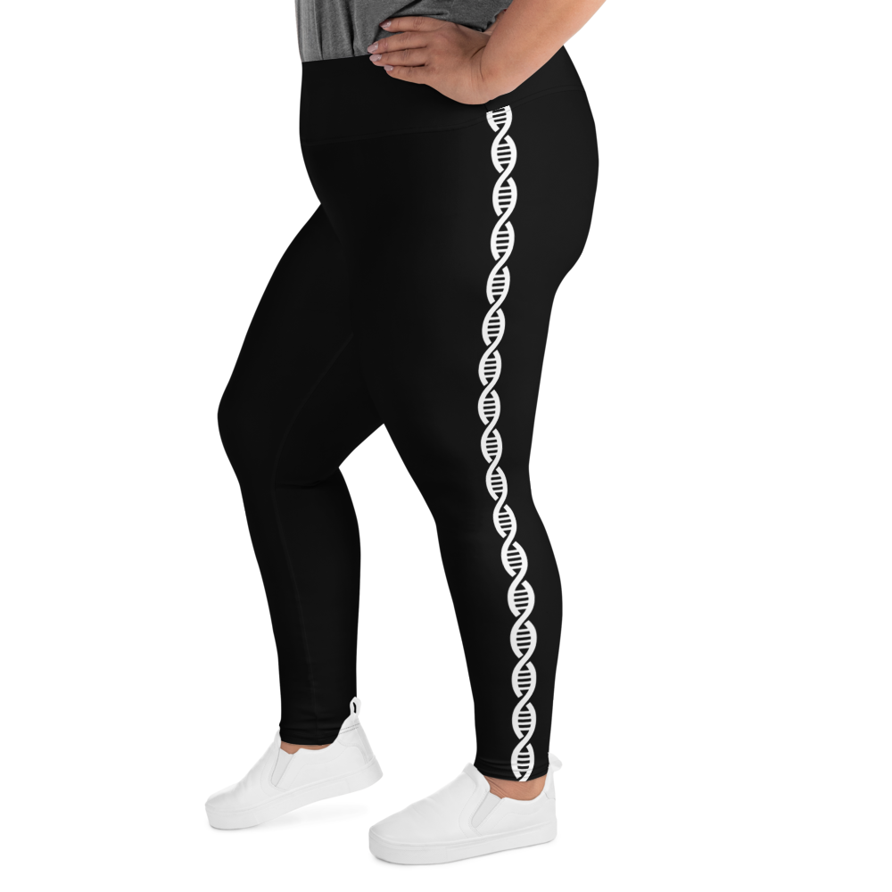 DNA Double Helix Plus Size Leggings