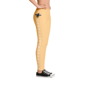 Yellow Bee Line Leggings