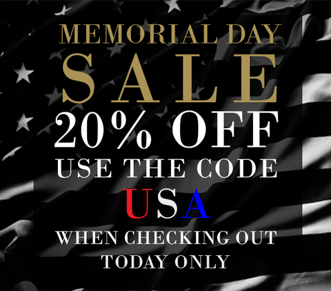 Memorial Day Sale, Take 20% OFF Today Only Enter Code USA when Checking Out