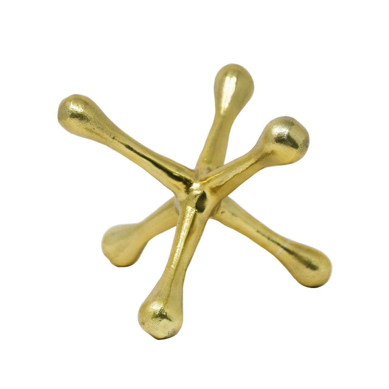 "GOLD METAL JACKS SCULPTURE 8"" - Casa Muebles"