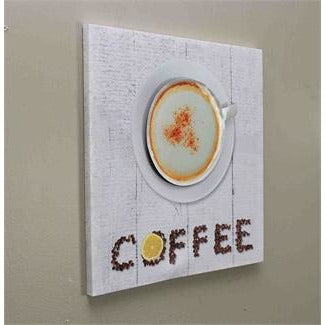 """Coffee"" & Cup 3D Canvas Print - Casa Muebles"