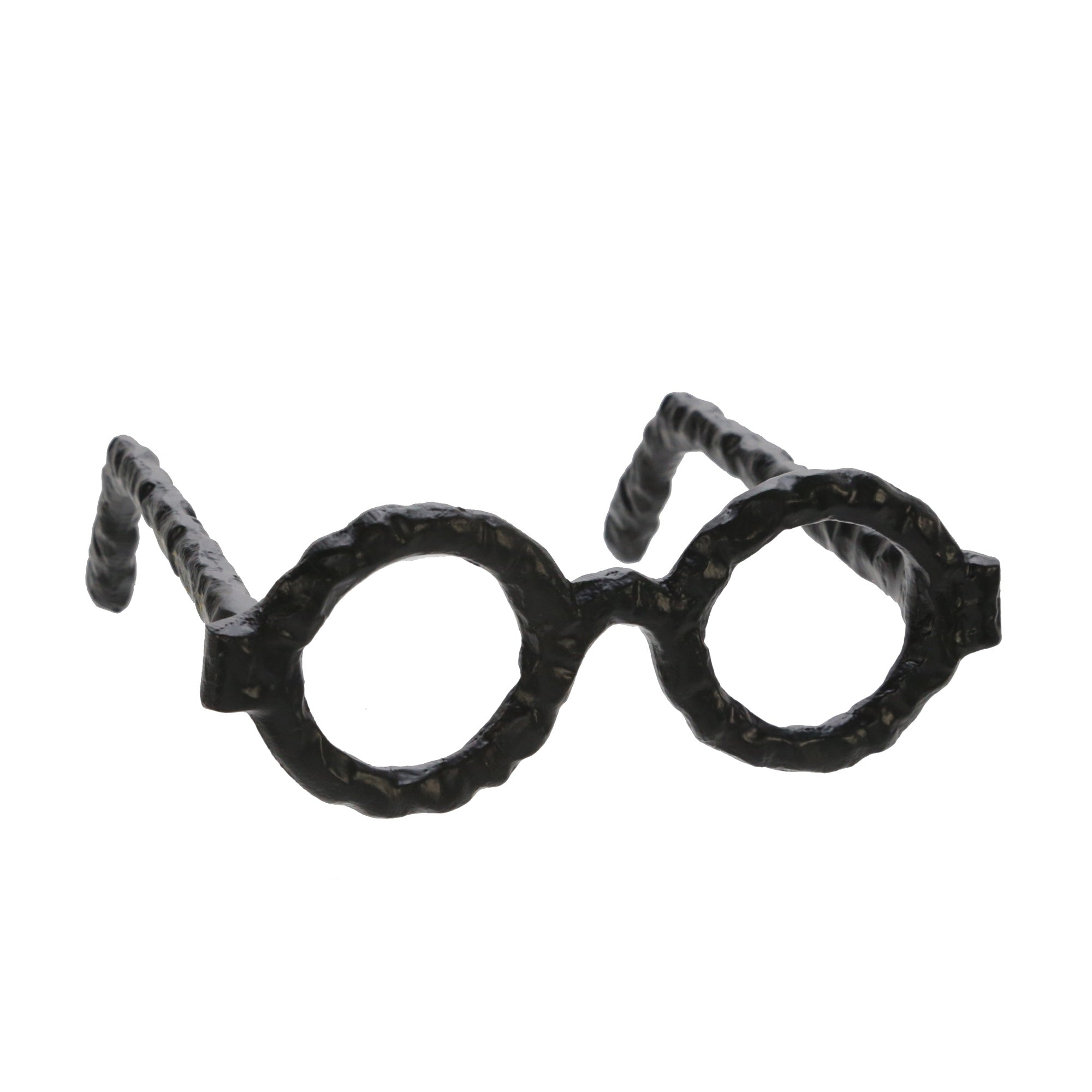 ALUMINUM GLASSES SCULPTURE, BLACK