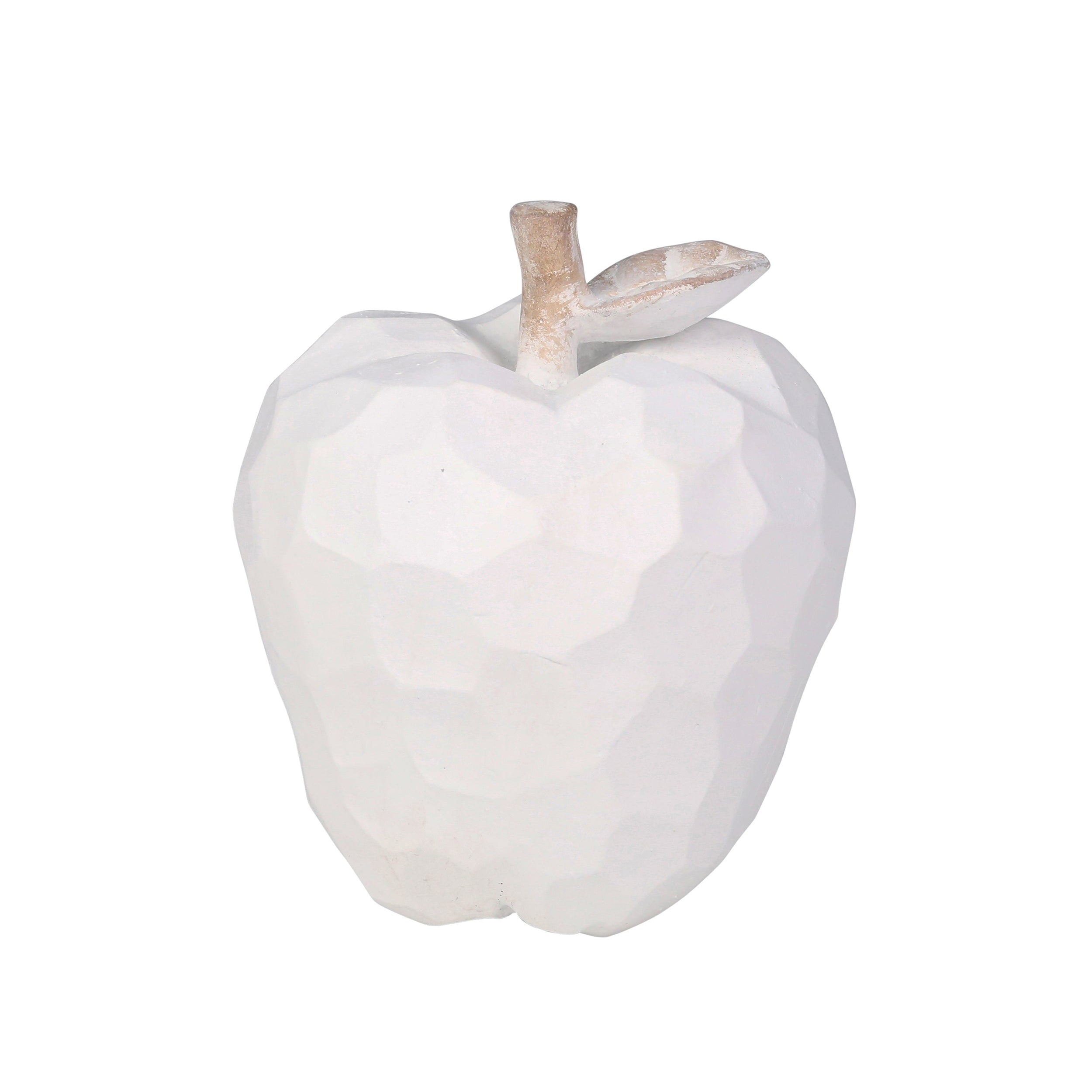 "POLYRESIN 6.75"" APPLE, WHITE - Casa Muebles"