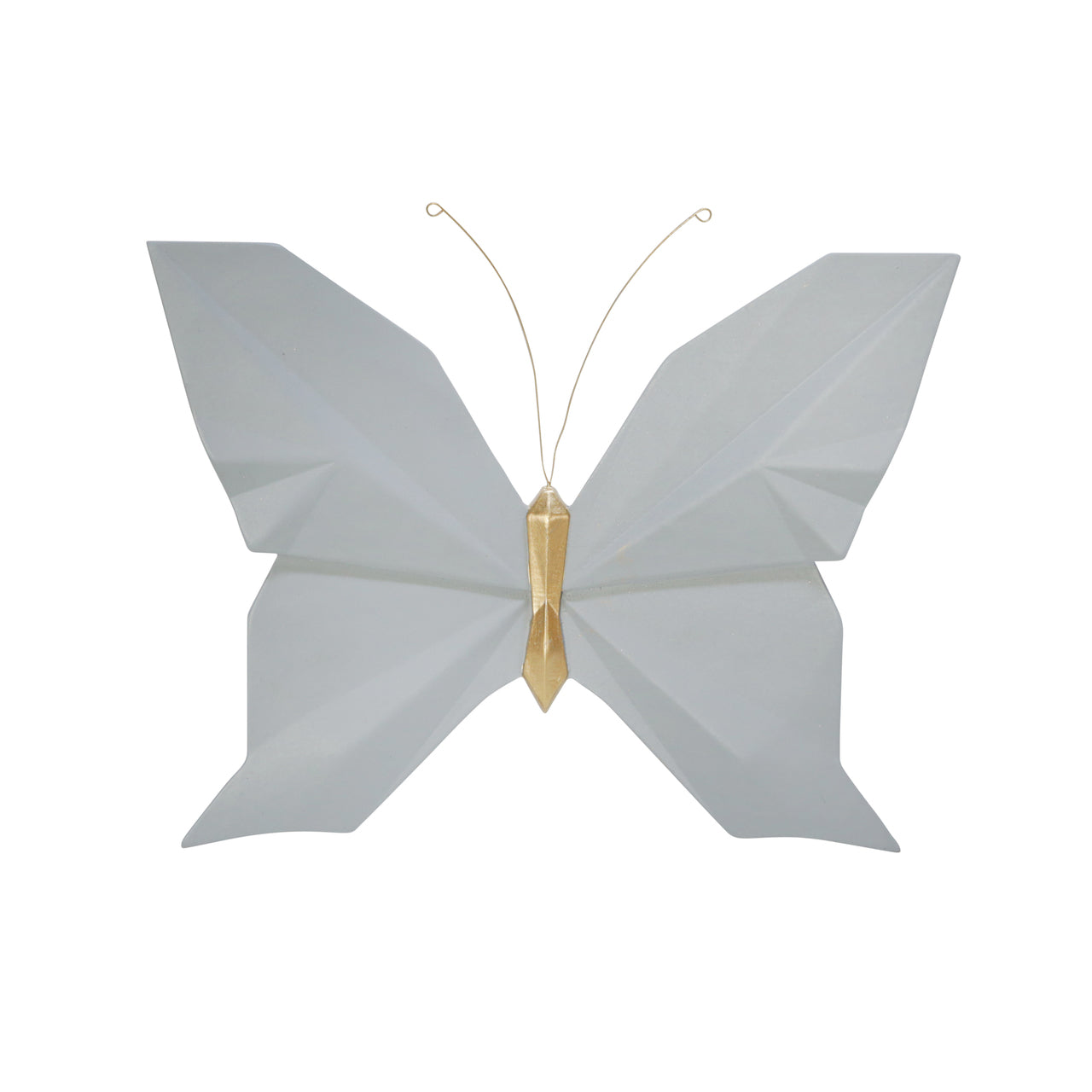 "RESIN 10"" W ORIGAMI BUTTERFLY WALL DECOR, SLATE - Casa Muebles"