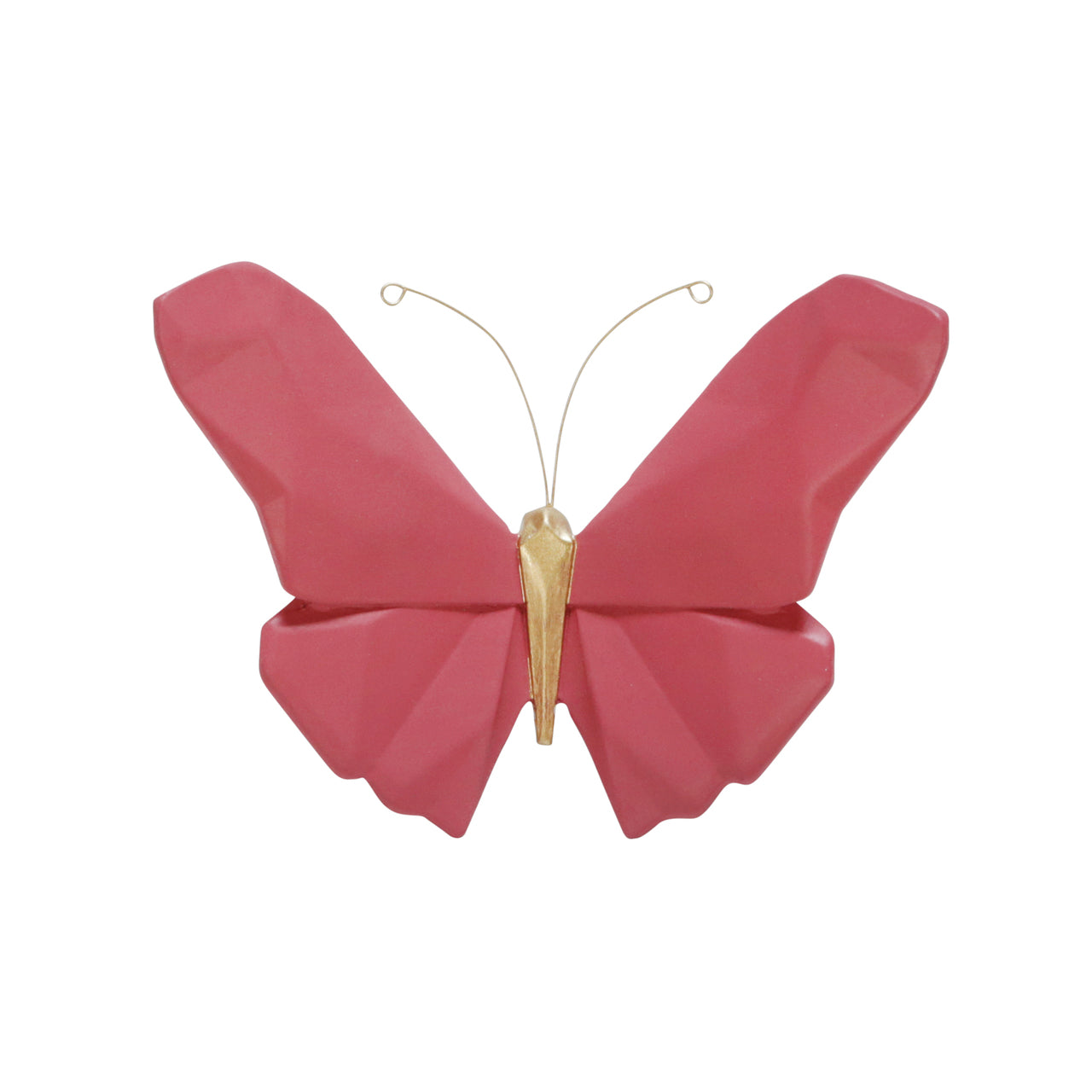 "RESIN 6"" W ORIGAMI BUTTERFLY WALL DECOR, PINK - Casa Muebles"