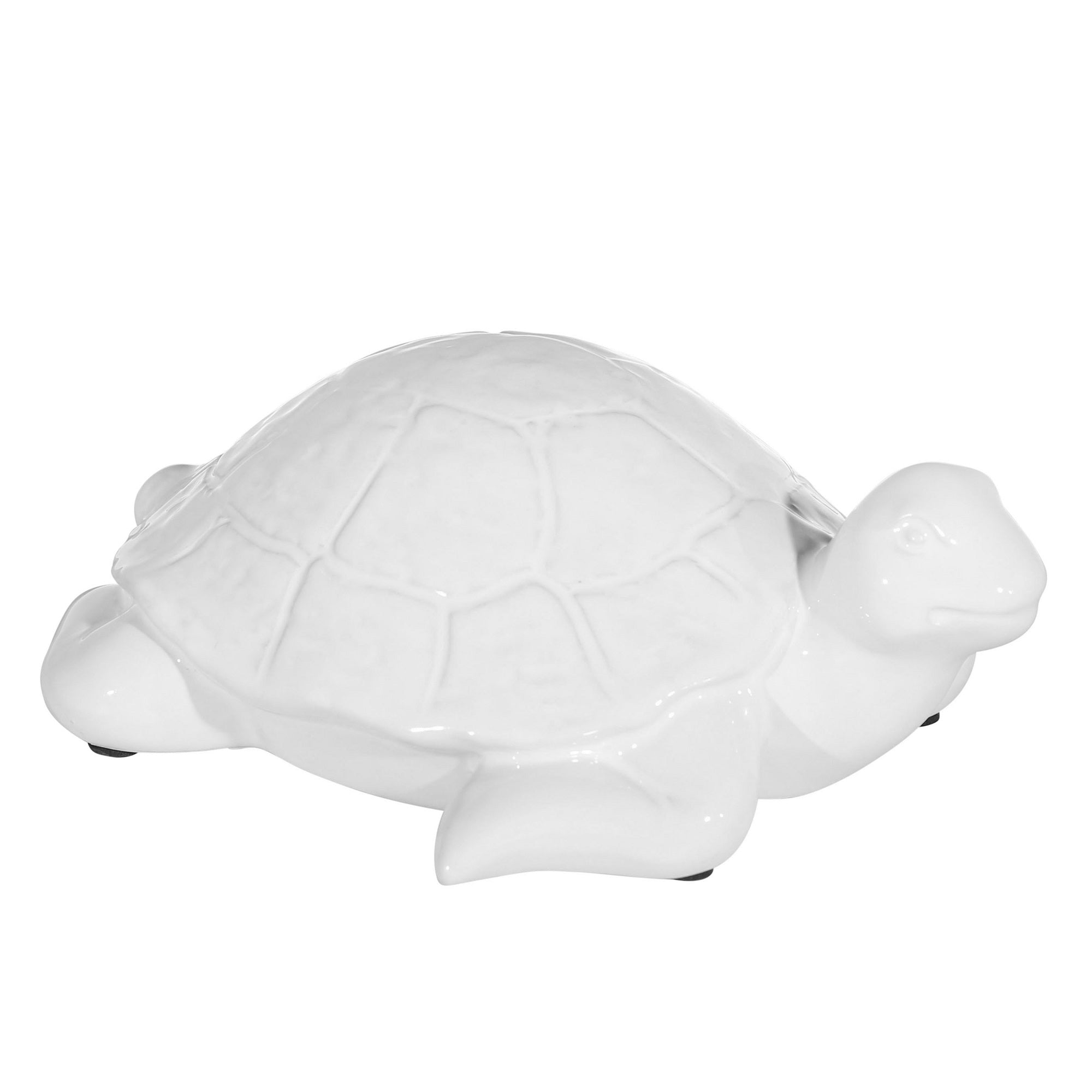 "CERAMIC 4"" TURTLE, WHITE"