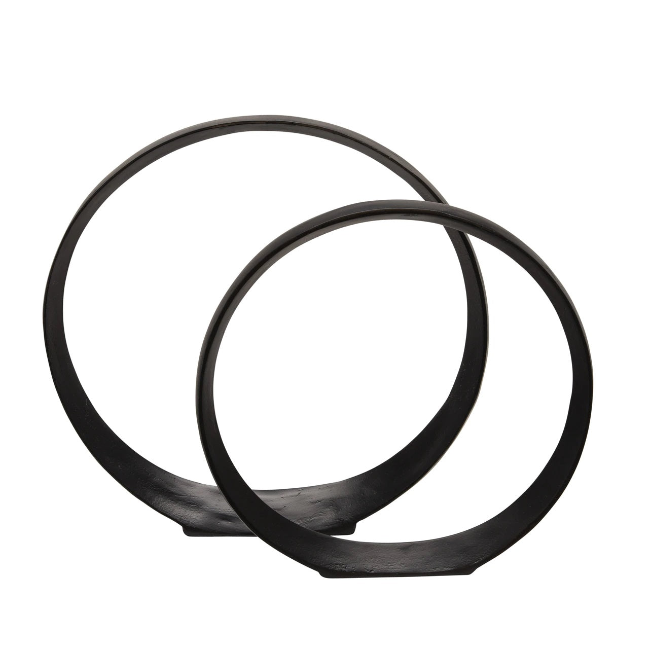 "Sed de 2 14/17"" CIRCLE SCULPTURES, BLACK"