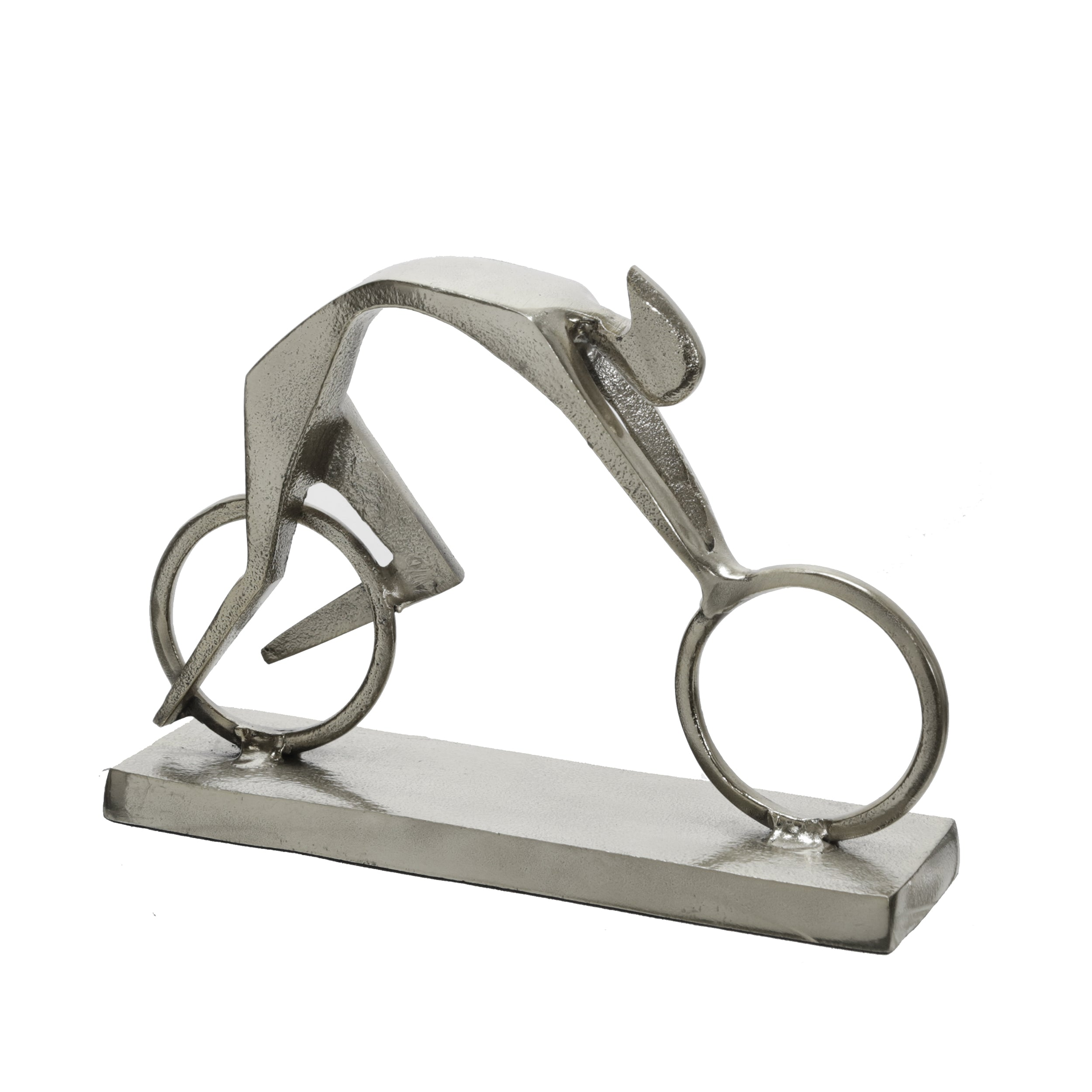 "METAL 9""H RACING MAN, SILVER - Casa Muebles"