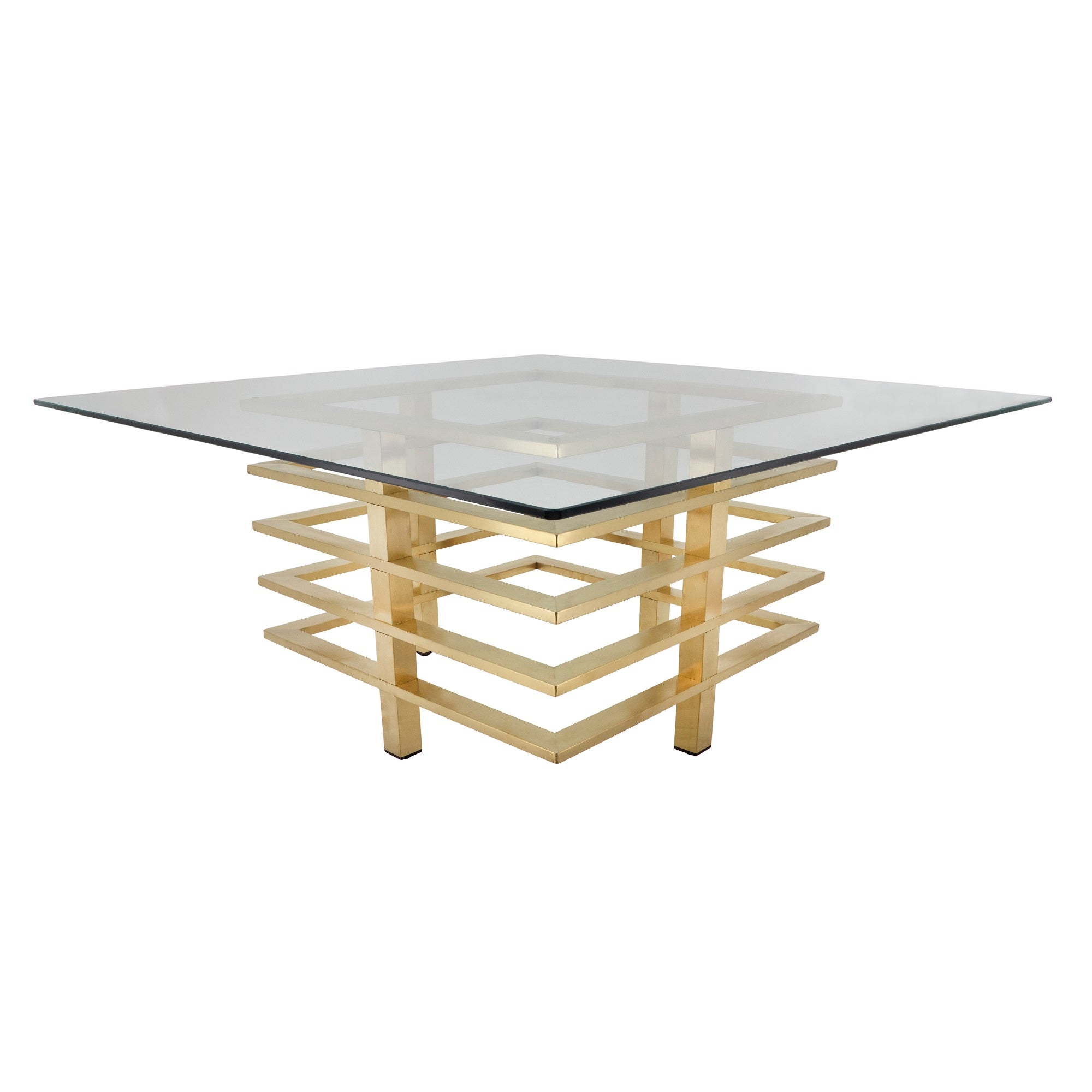 METAL STACKED COFFEE TABLE, GOLD - MATERIAL STAINLESS STEEL