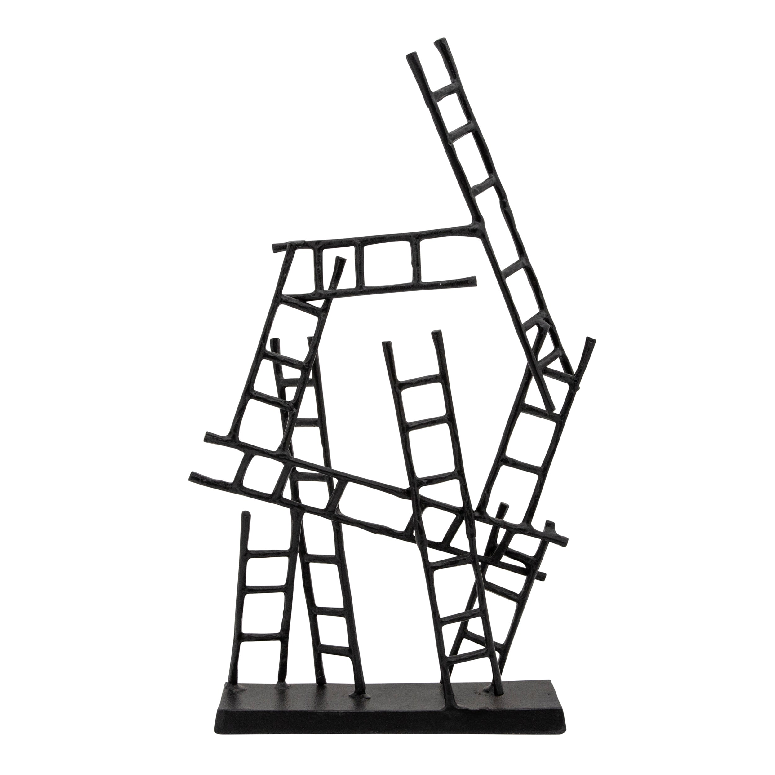 "24""H LADDERS SCULPTURE, BLACK"