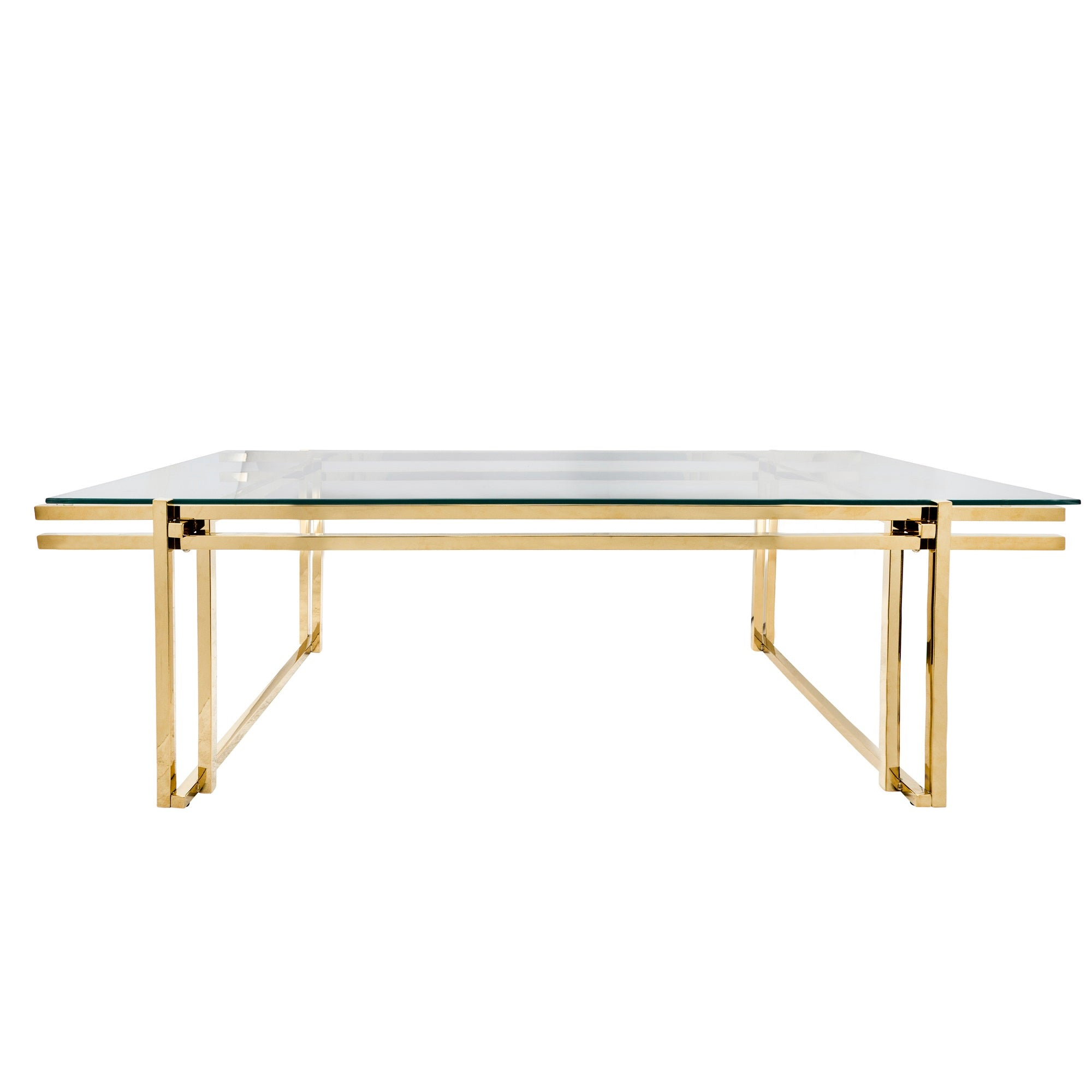 "METAL 55"" COFFEE TABLE, GOLD"