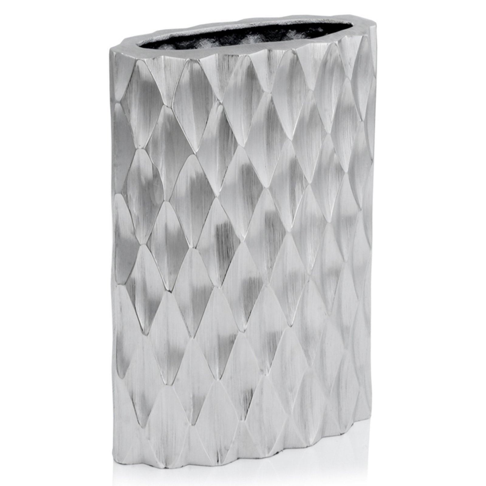 Modern Day Accents Arlequin Oval Diamond Vase, Size: Small - Casa Muebles