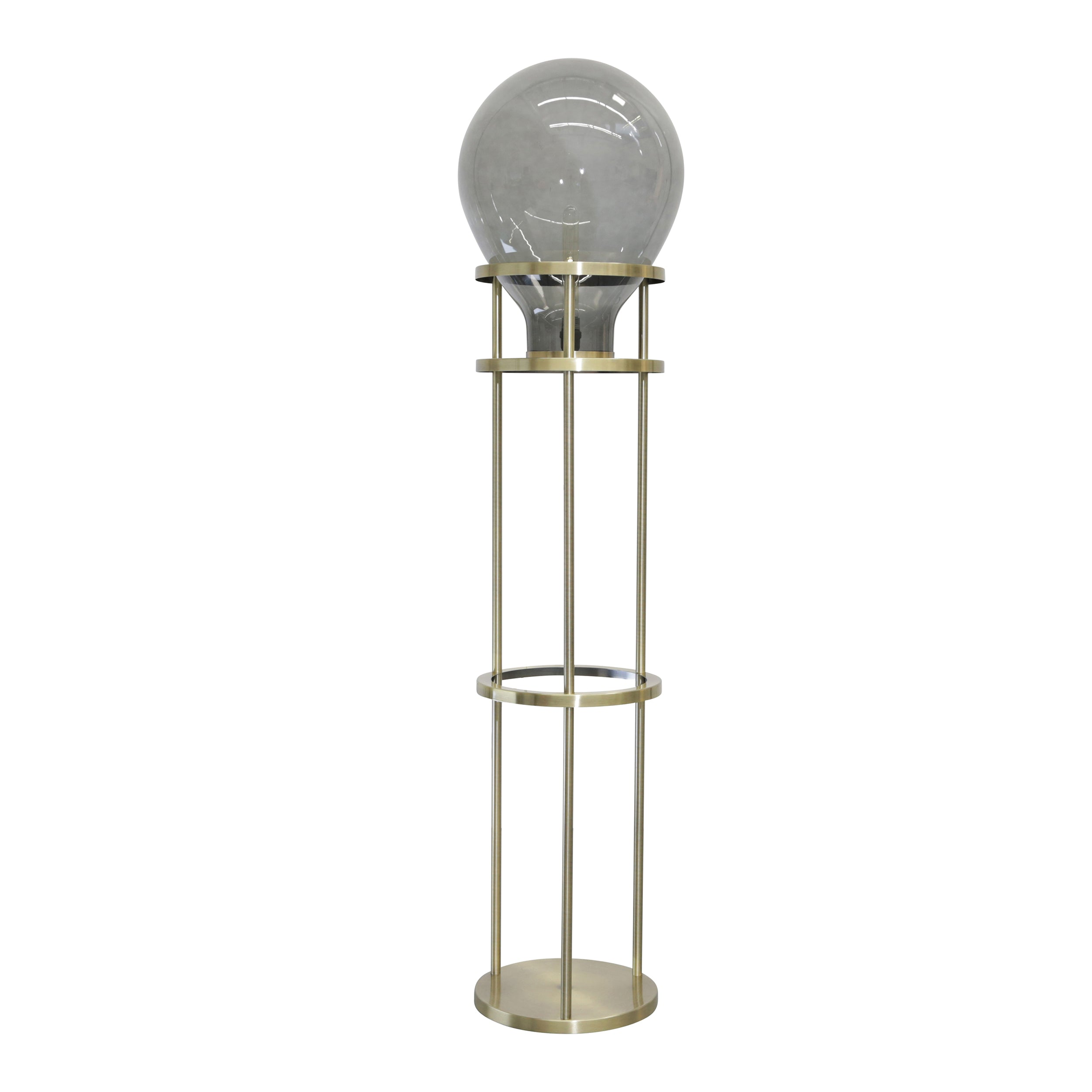 "Metal / Glas 61""Bulb Floor Lamp - Casa Muebles"