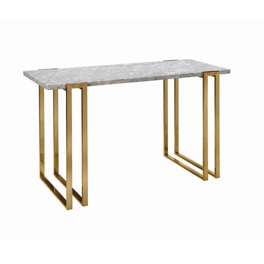 SOFA TABLE MARBLE TOP ITALIAN WHITE - Casa Muebles