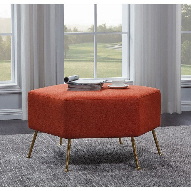 Orange Ottoman - Casa Muebles