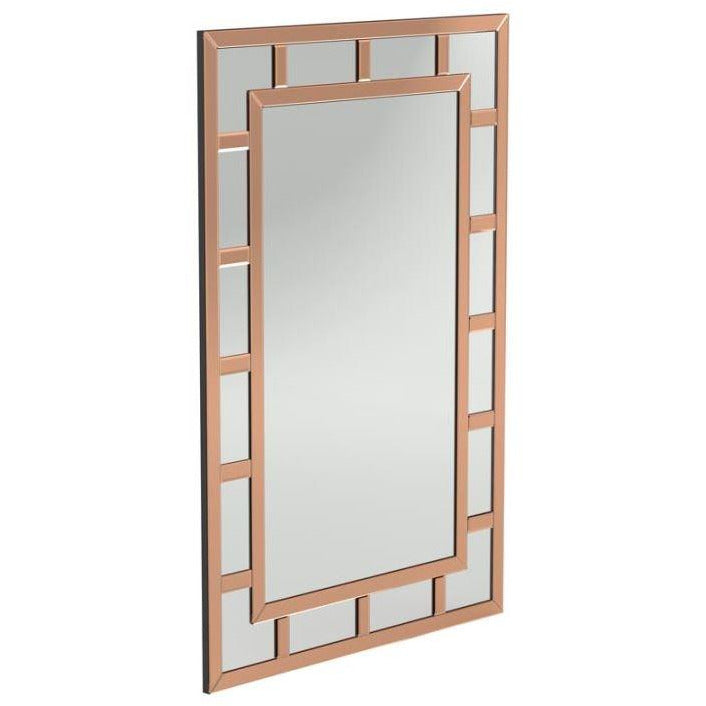 Wall Mirror, Rose Gold