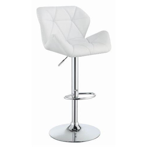 Adjustable Bar Stool White - Casa Muebles