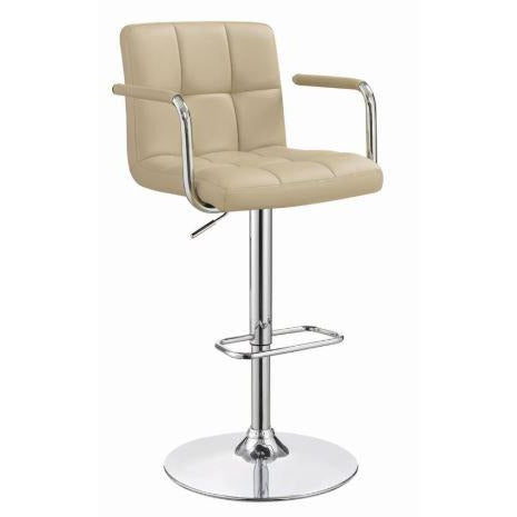 Adjustable Bar Stool With Handle Beige - Casa Muebles