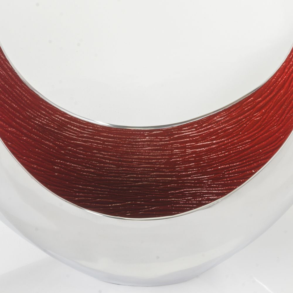 Aro Oval Large Slim Shiny & Red Bowl - Casa Muebles
