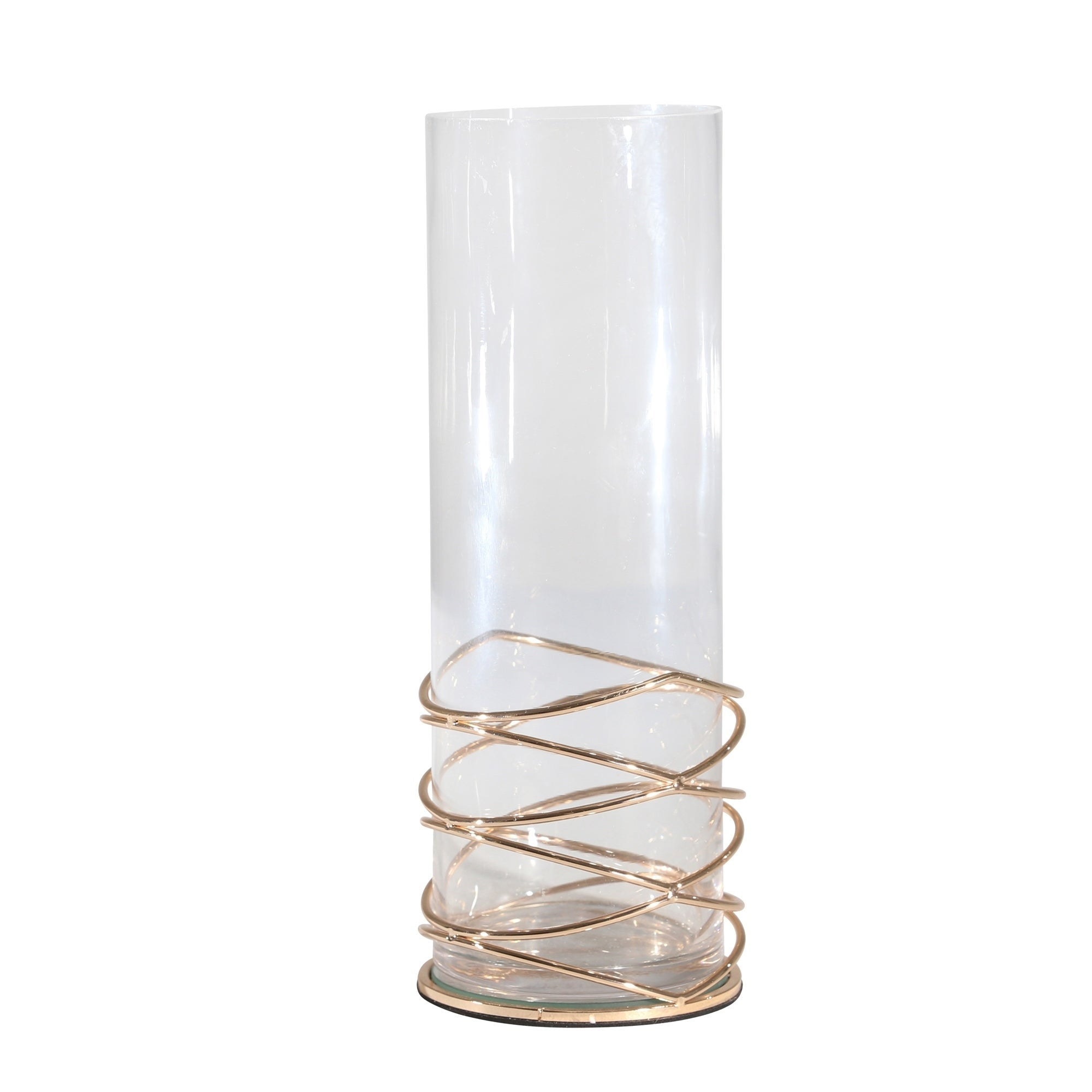 Metal / Glass Candle Holder - Casa Muebles