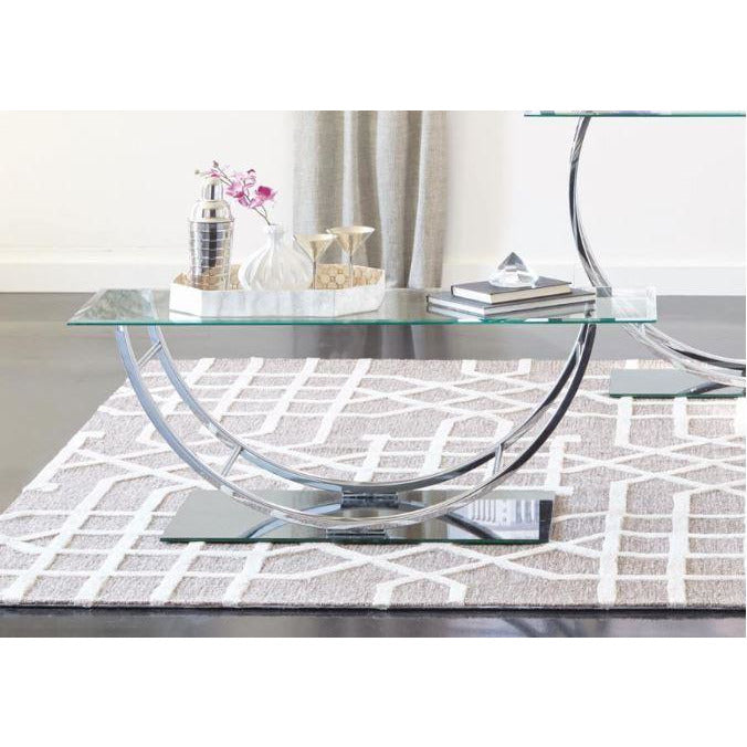 Coffee Table- U Shaped Base - Casa Muebles