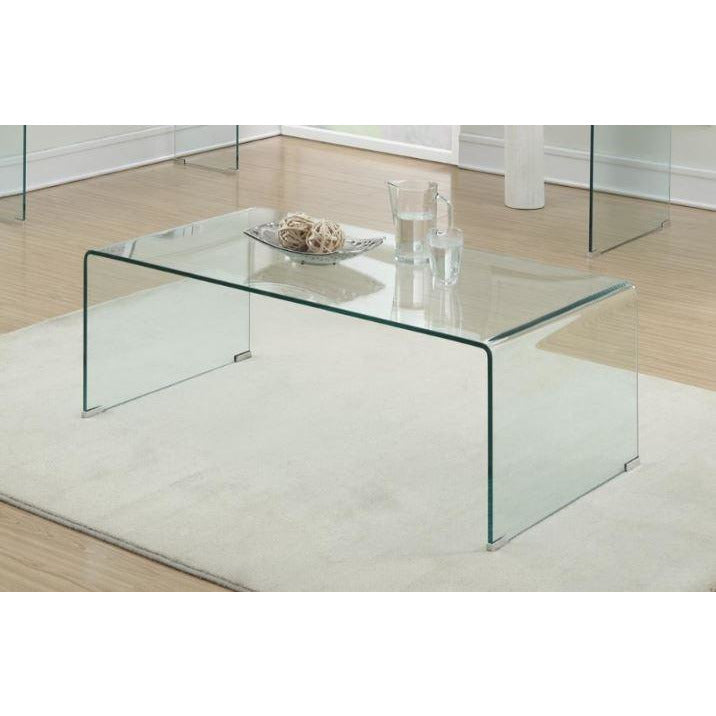 Coffee Table- Clear Glass - Casa Muebles