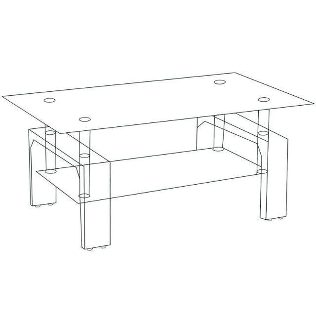 Coffee Table- Glossy Black - Casa Muebles