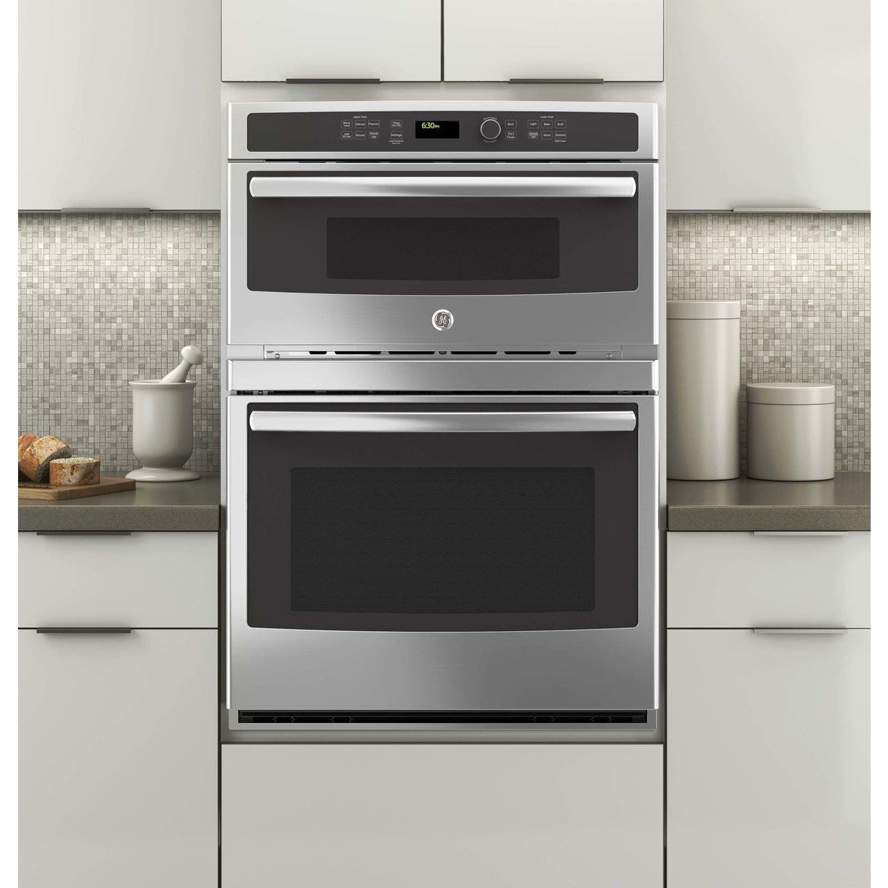 "GE® 30"" Combination Double Wall Oven - Casa Muebles"