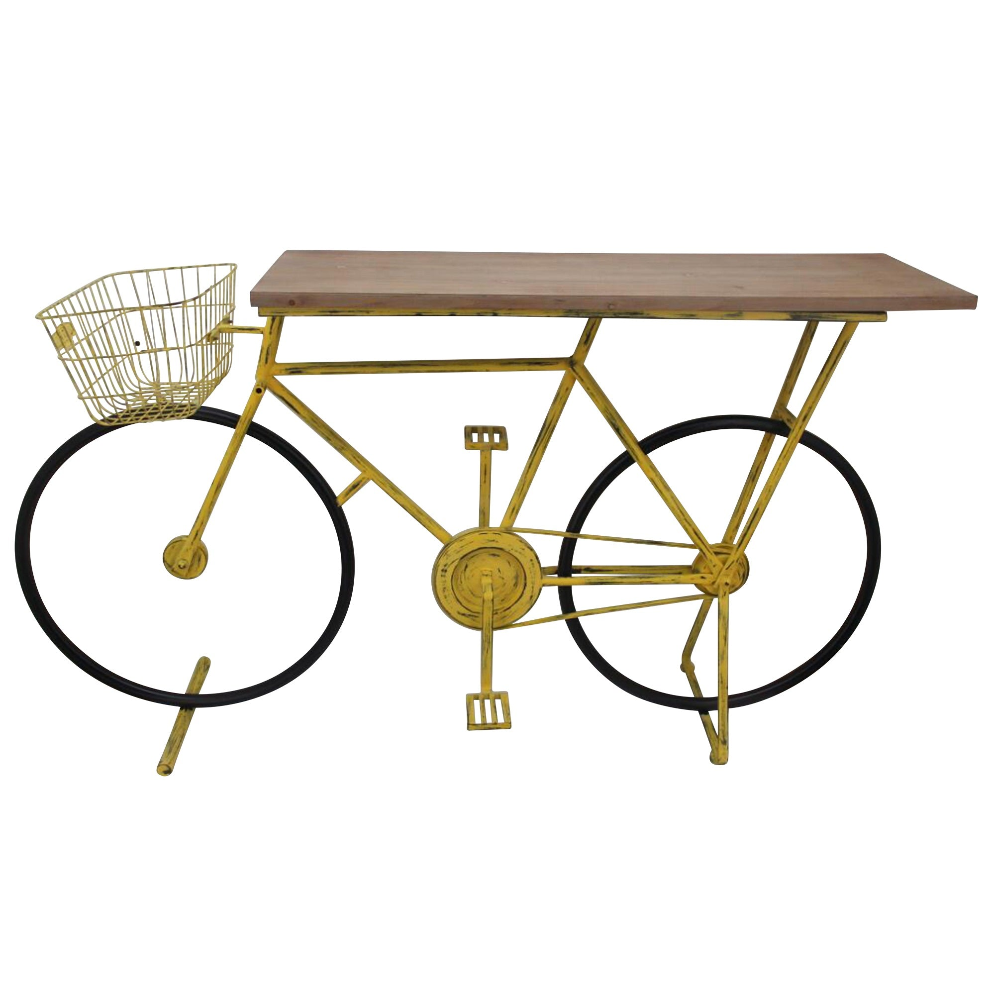 Ec, Bicycle Console Table, YELLOW