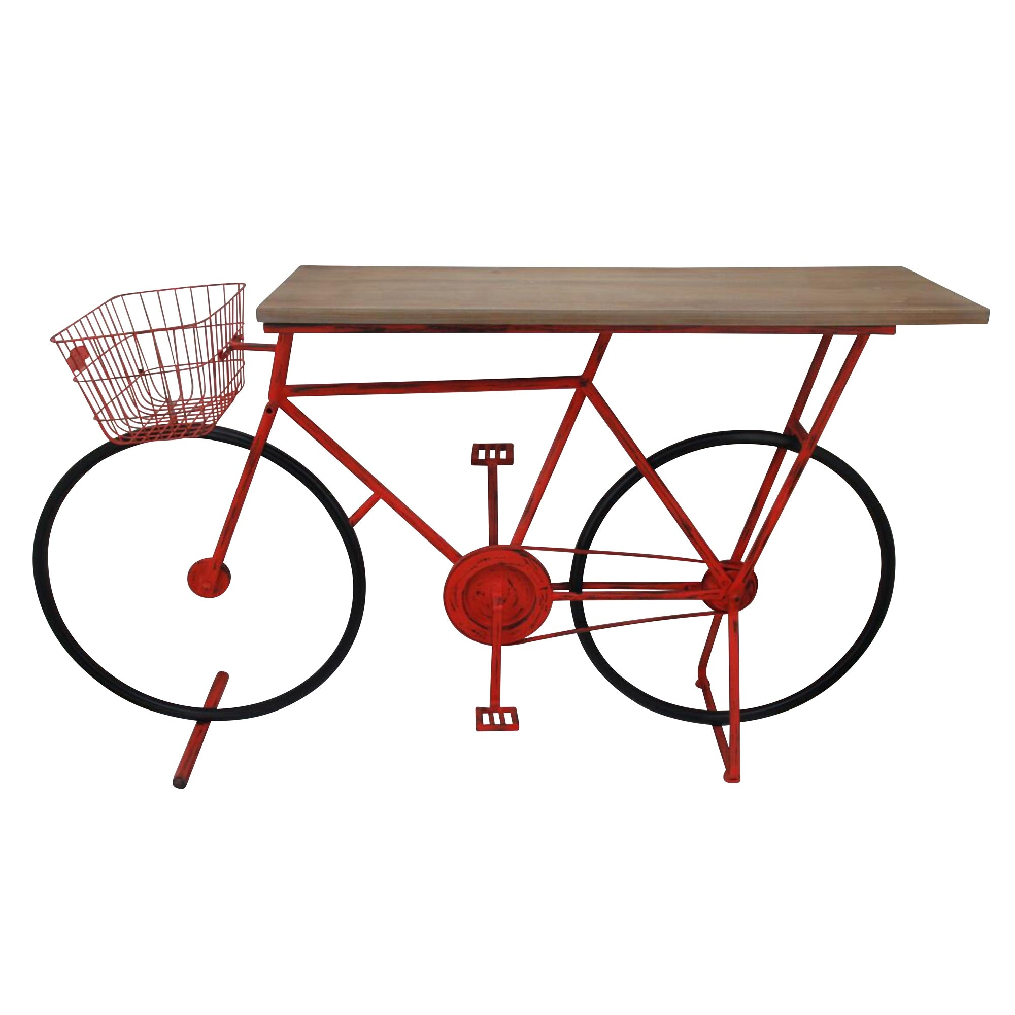 Ec, Bicycle Console Table, RED