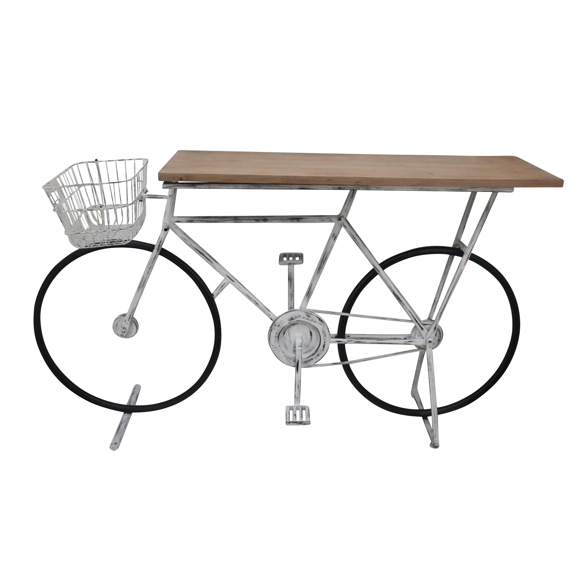 Ec, Bicycle Console Table, WHITE