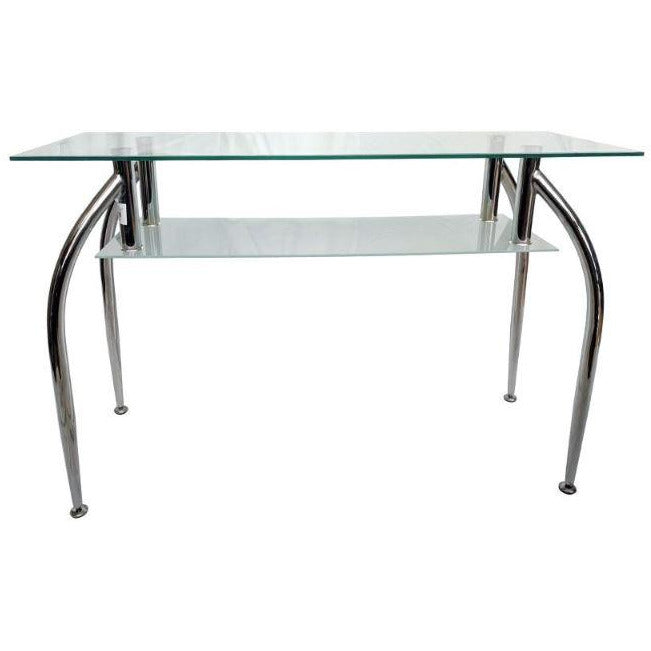 Glass & Metal Console Table - Casa Muebles