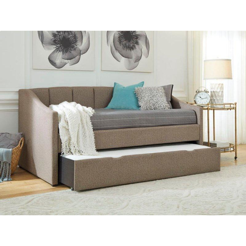 CASUAL UPHOLSTERED TWIN DAYBED WITH TRUNDLE - Casa Muebles