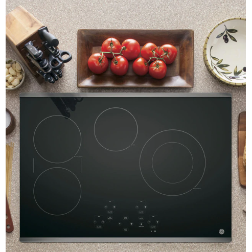"GE® 30"" Built-In Touch Control Electric Cooktop - Casa Muebles"