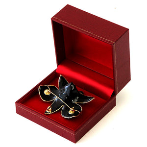 Black Orchid Brooch (Large)