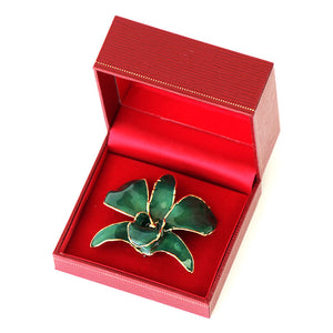 Green Orchid Brooch