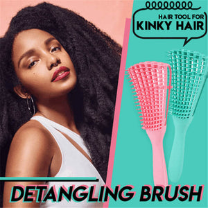 Detangling Brush For Curly, Afro, Textured, Kinky, Natural Hair