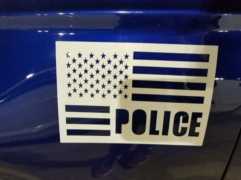 police  flag  magnet cut out - OGRAPHICS