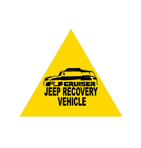 Fj recovery no problem sticker peel / stick - OGRAPHICS