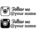 Instagram decal x2 - OGRAPHICS