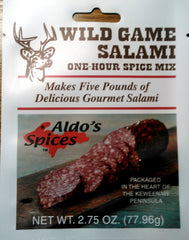 Aldo's Wild Game Salami, on back order until dec. 5