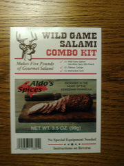 Aldo's Wild Game One-Hour Salami Combo Kit