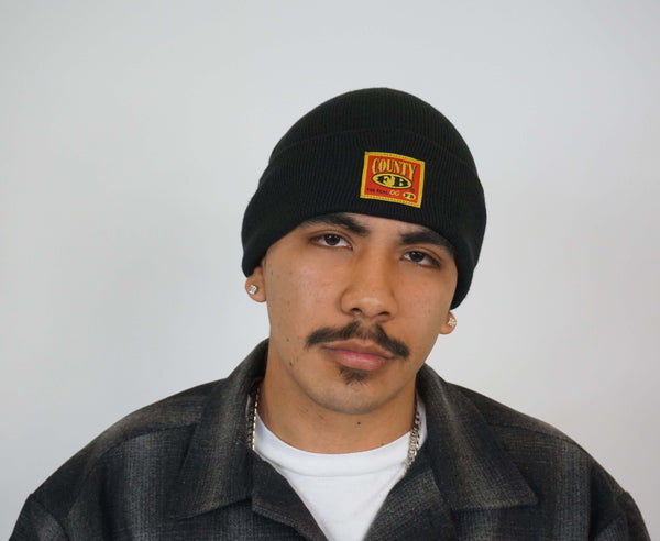 FB County Beanies. Black Beanies for Men and Women. Chicano Style Beanies