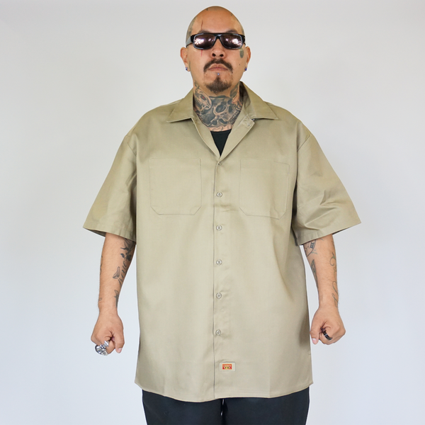 FB County Short Sleeve Kackie Work Shirt Beige