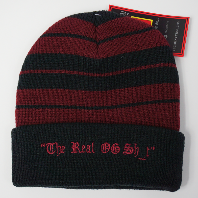 FB County Charlie Brown Beanie - Black/Burgundy