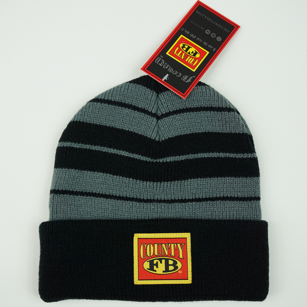 FB County Charlie Brown Beanie - Black/Grey
