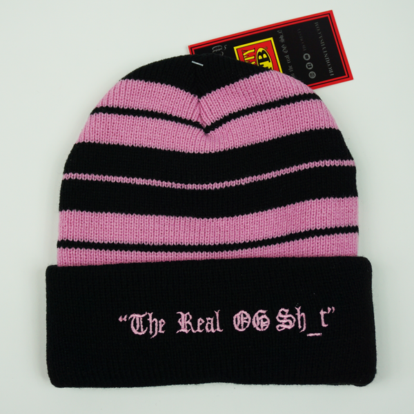FB County Charlie Brown Beanie - Black/Pink