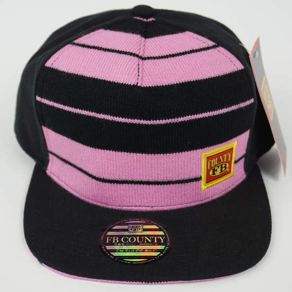 FB County Charlie Brown Cap/Hat Black/Pink. Flat Bill. Chicana Hats. FB County Hats