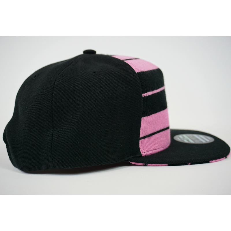 FB County Charlie Brown Cap/Hat Black/Pink Right Side.